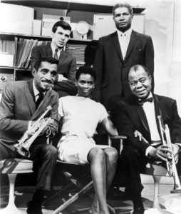 A MAN CALLED ADAM, Sammy Davis, Jr., Frank Sinatra, Jr., Cicely Tyson, Ossie Davis, Louis Armstrong, 1966