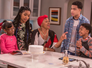 Blackish kitchen